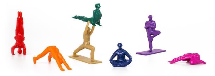Joes de yoga arc-en-ciel