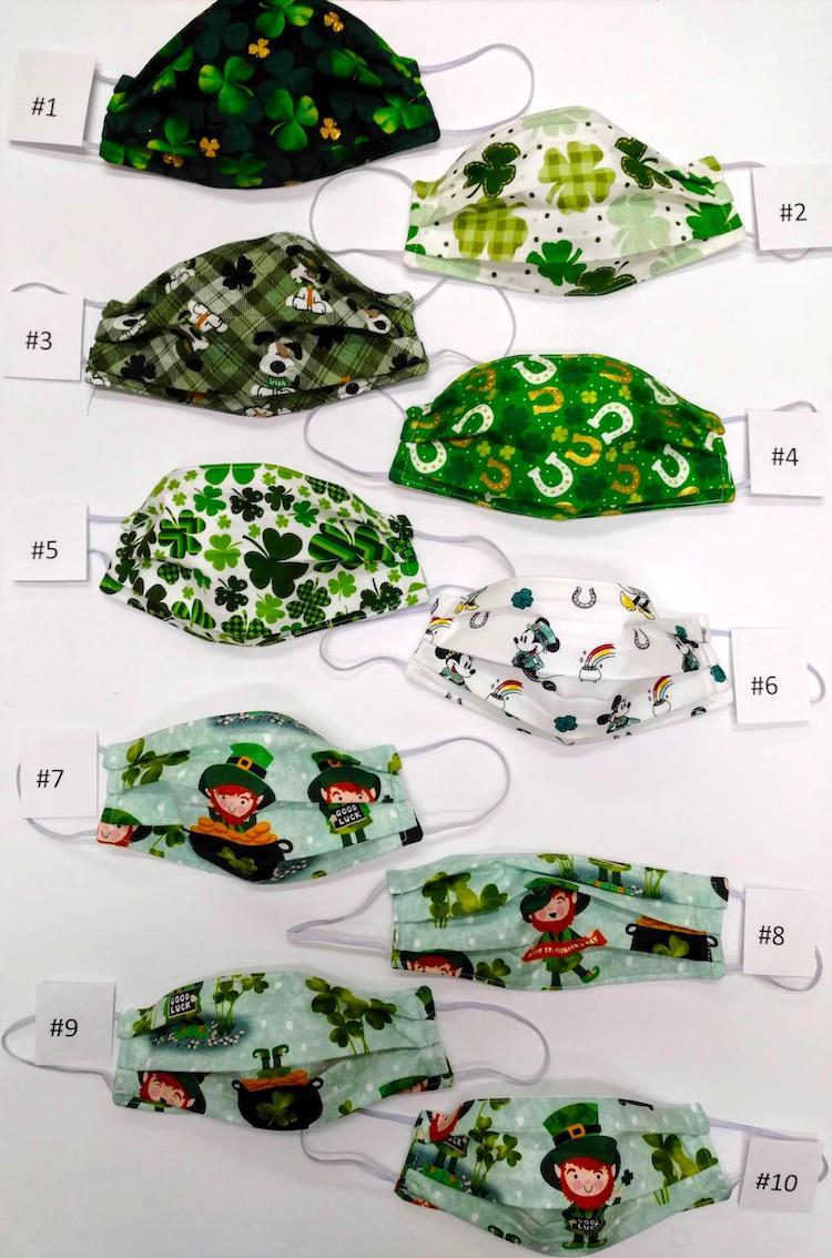 Masques faits à la main pour la Saint-Patrick