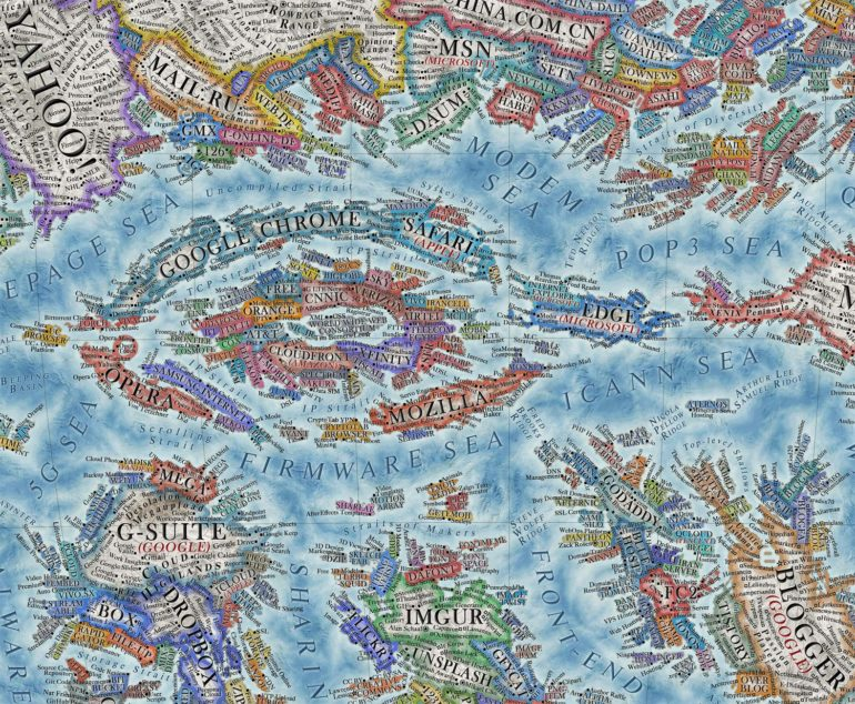 La carte du monde d'Internet en 2021