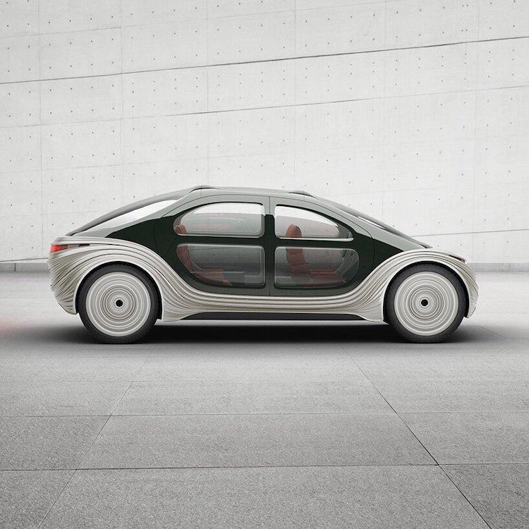 Vue latérale de la voiture électrique Airo