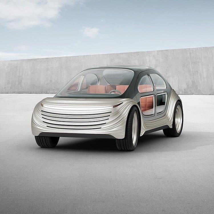 Vue frontale de voiture électrique Airo