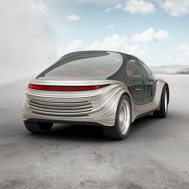 Vue arrière de la voiture électrique Airo