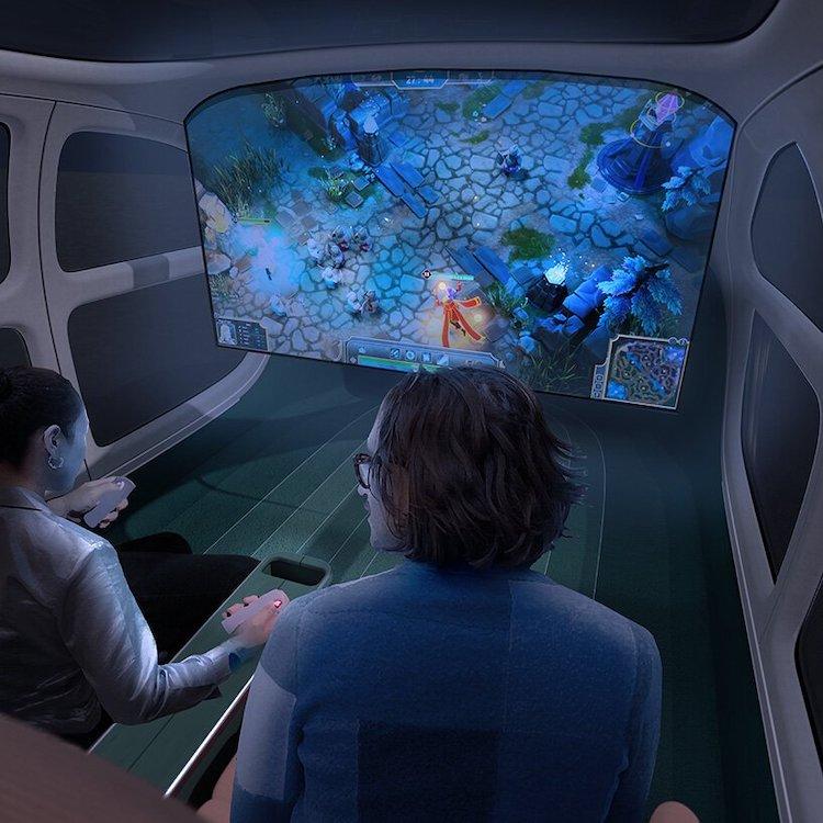 Espace de théâtre intérieur de voiture électrique Airo