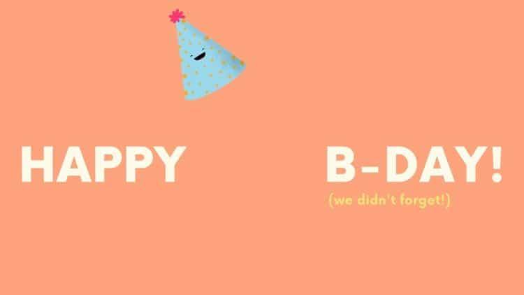 Fond de zoom joyeux anniversaire
