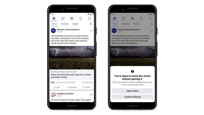 Facebook lire des articles