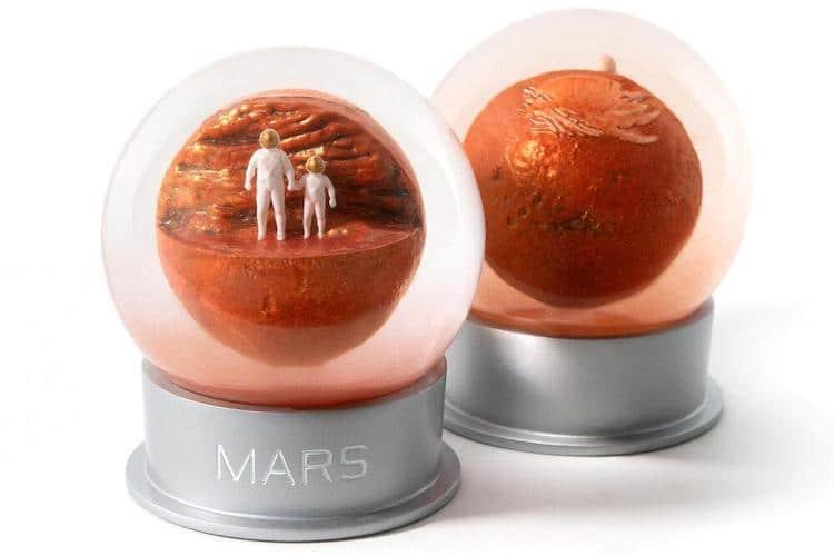 Boule de neige de Mars