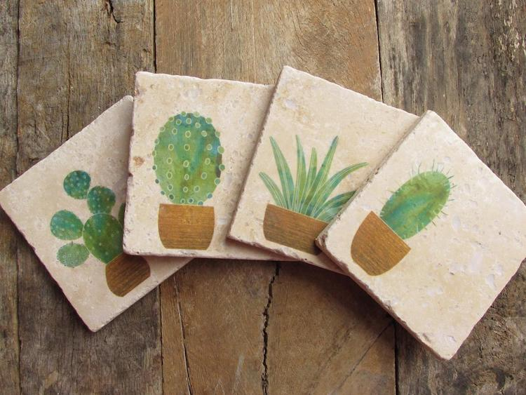 Sous-verres Cactus