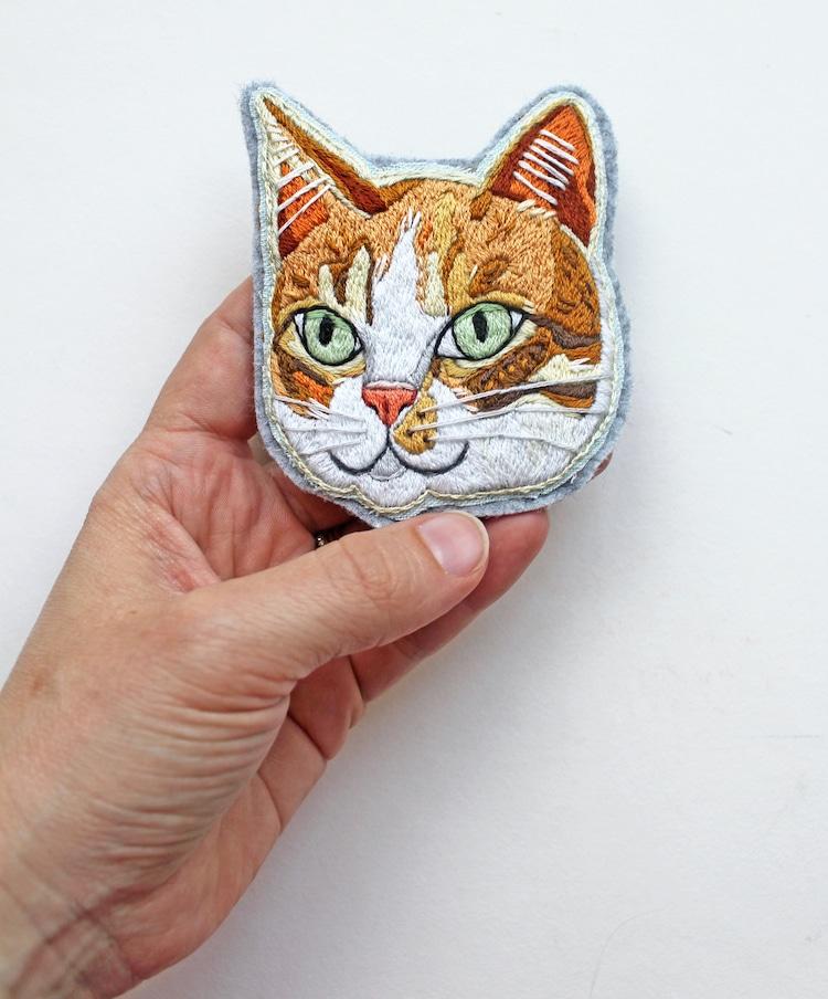Patch de chat brodé personnalisé