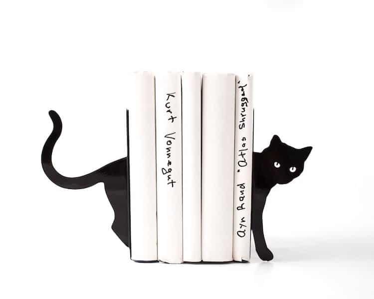 Serre-livres chat