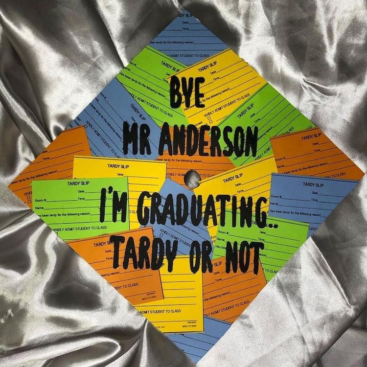 Conception de casquette de graduation drôle