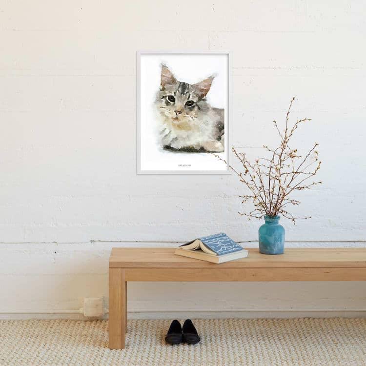 Portrait d'animal personnalisé