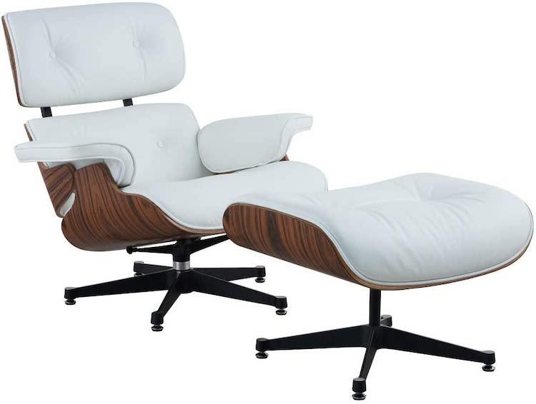 Chaise longue et pouf Eames