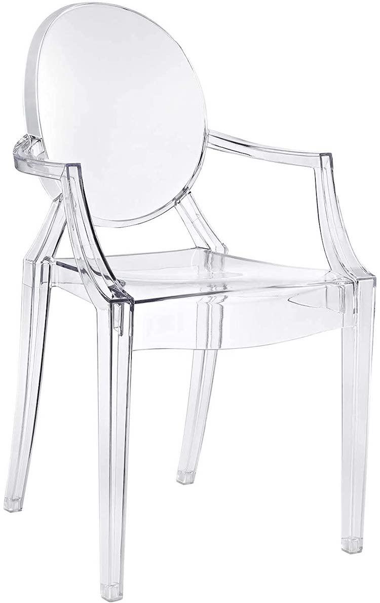 Chaise en acrylique Casper