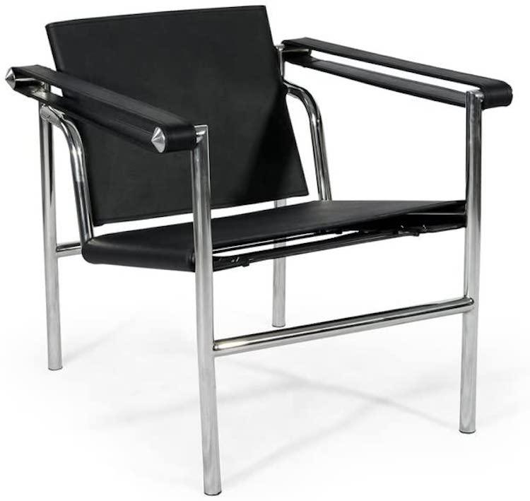 Chaise Saddle en cuir Le Corbusier