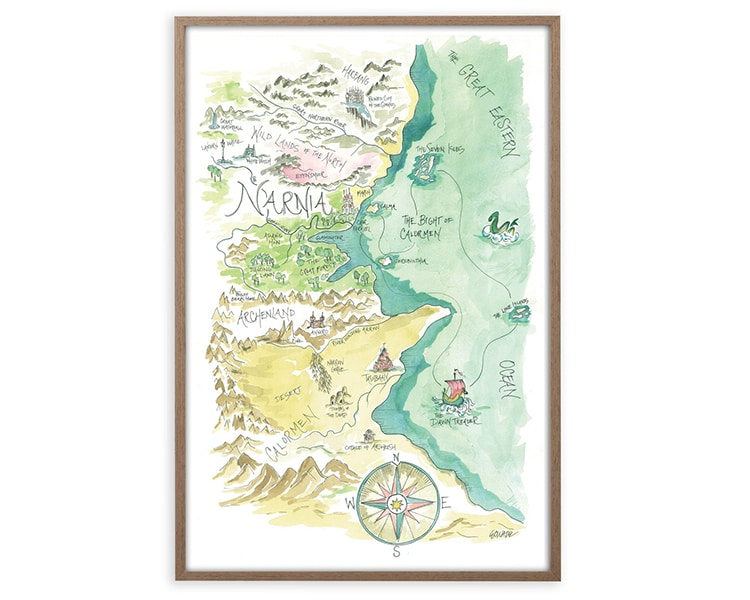 Carte aquarelle fantaisie Narnia Harry Potter