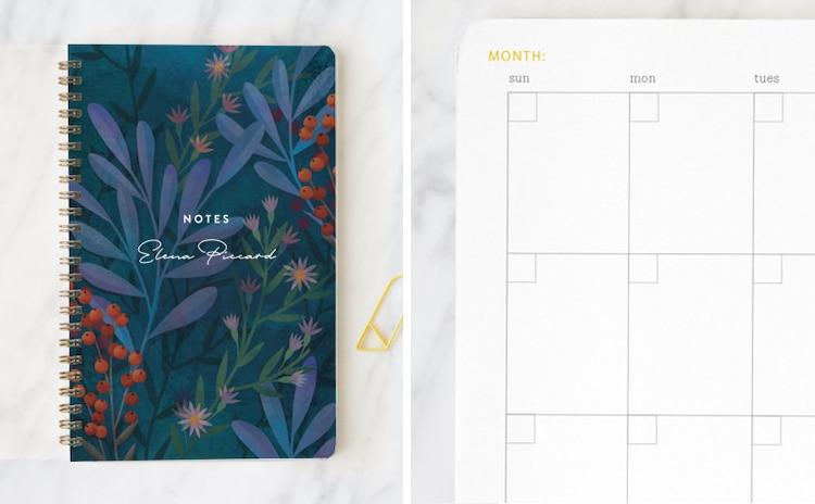Planificateur mensuel personnalisé