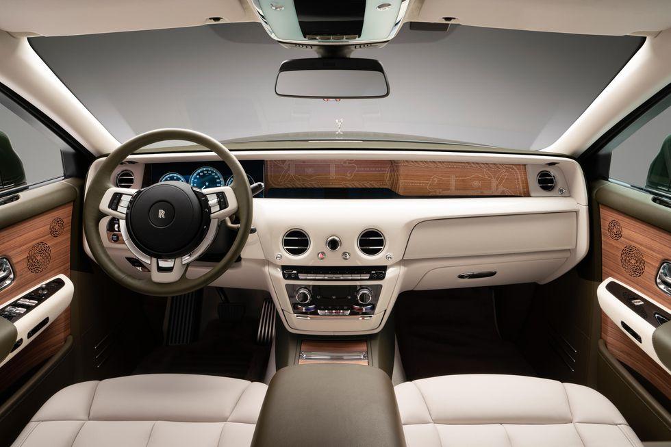 Intérieur de Rolls-Royce et Hermès Phantom Oribe