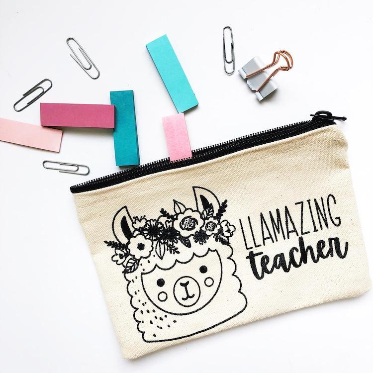 Étui à crayons Llama