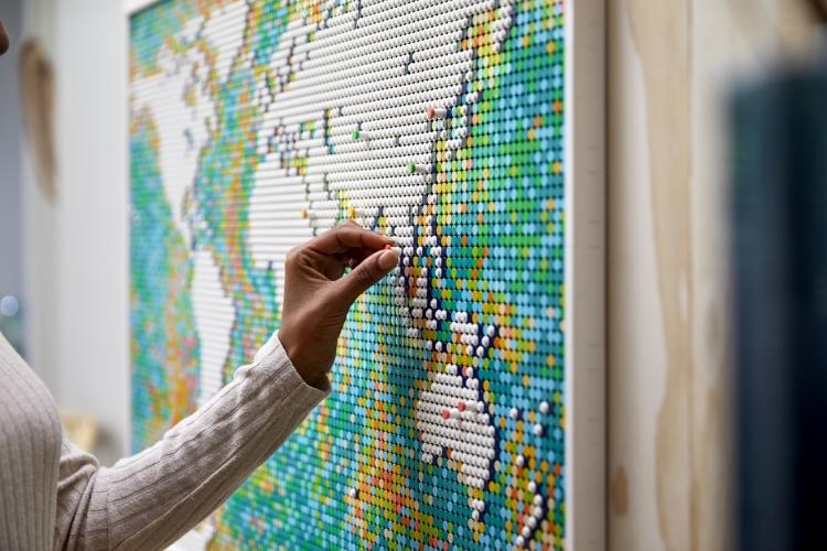 Carte du monde Lego Set