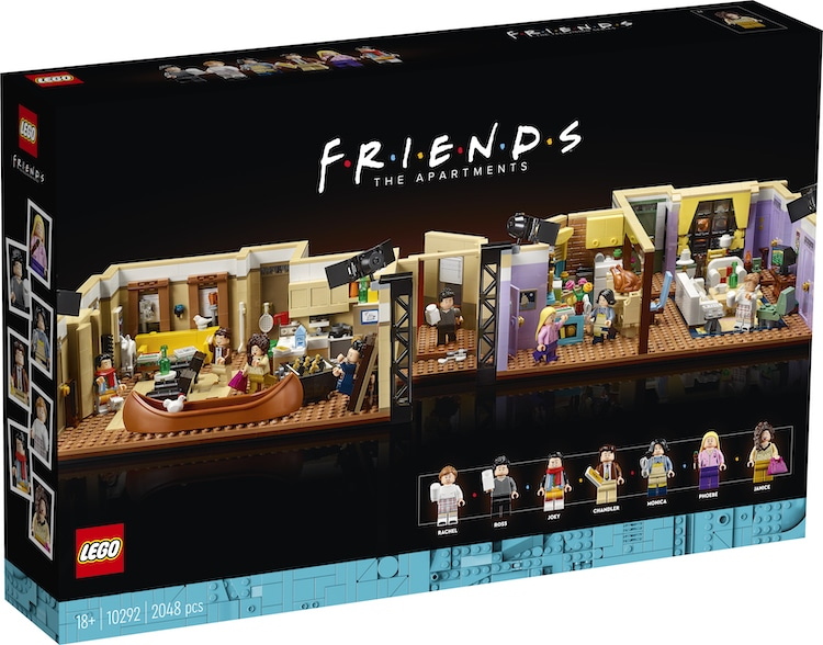 L'ensemble Lego des appartements des amis