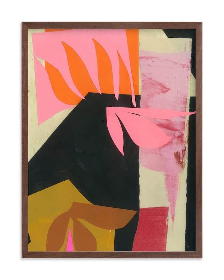 Art abstrait contemporain sur minted
