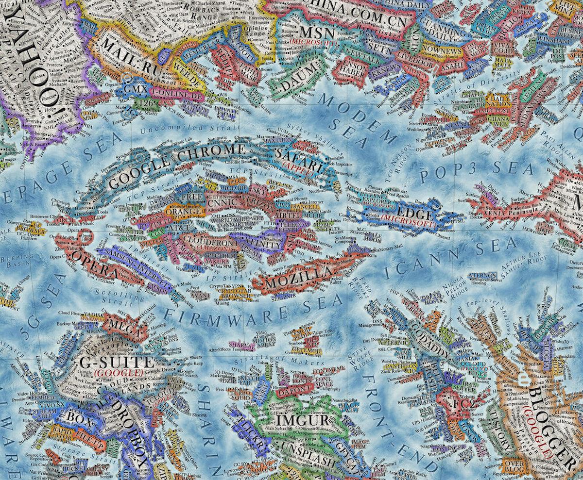Carte d'Internet 2021