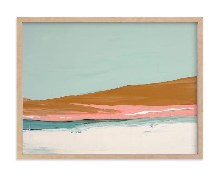 Peinture colorée de dunes de sable