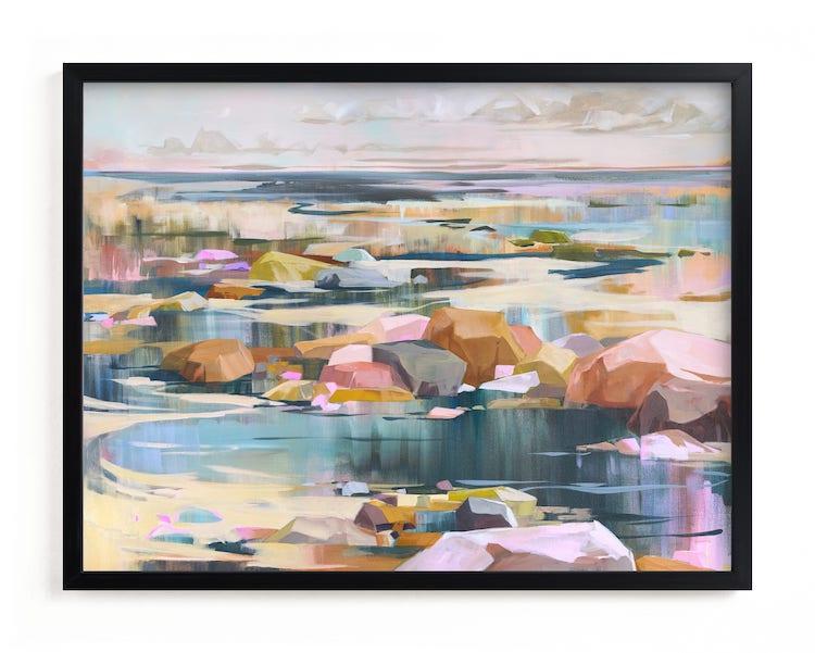 Peinture colorée d'une rivière
