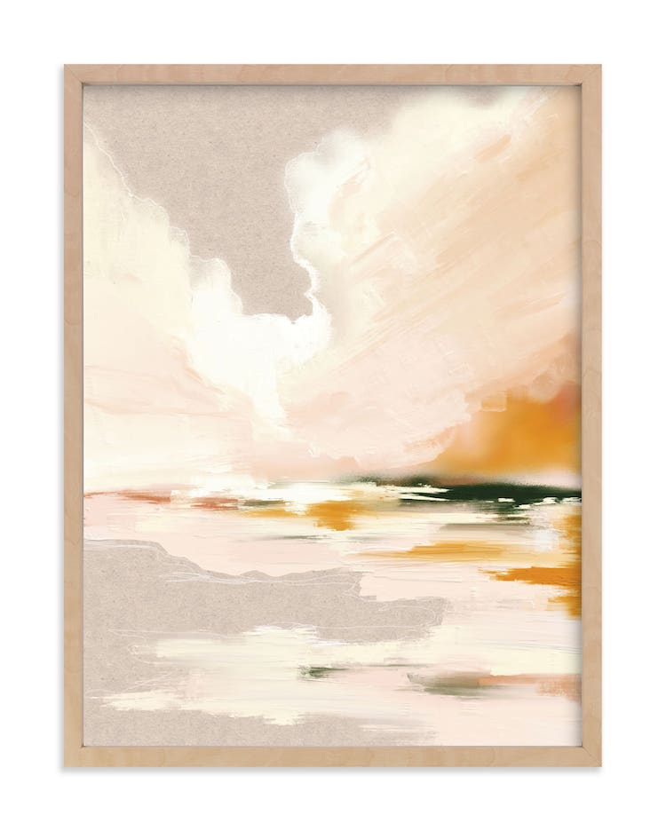 Peinture de paysage marin abstrait