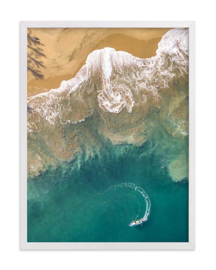 Photographie aérienne de plage sur monnayé