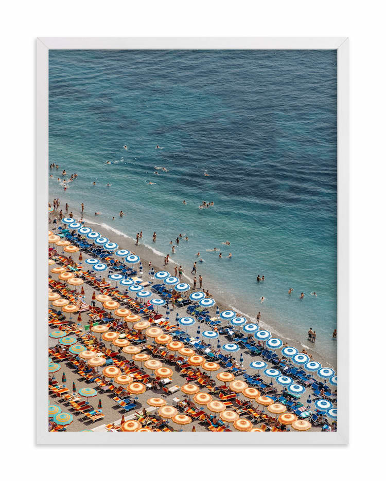 Photo aérienne de la plage de Positano