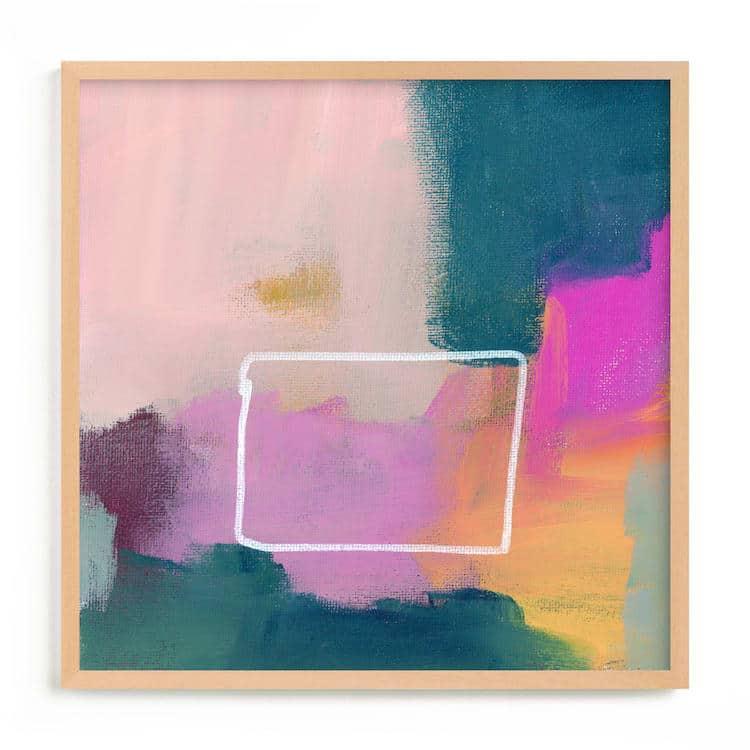 Art abstrait coloré sur frappé