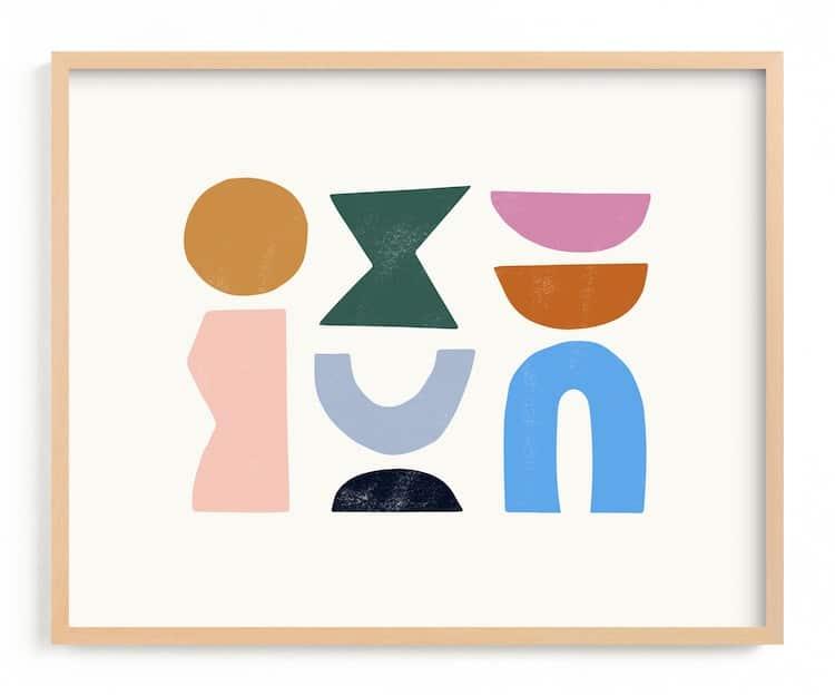 Formes abstraites Impression artistique