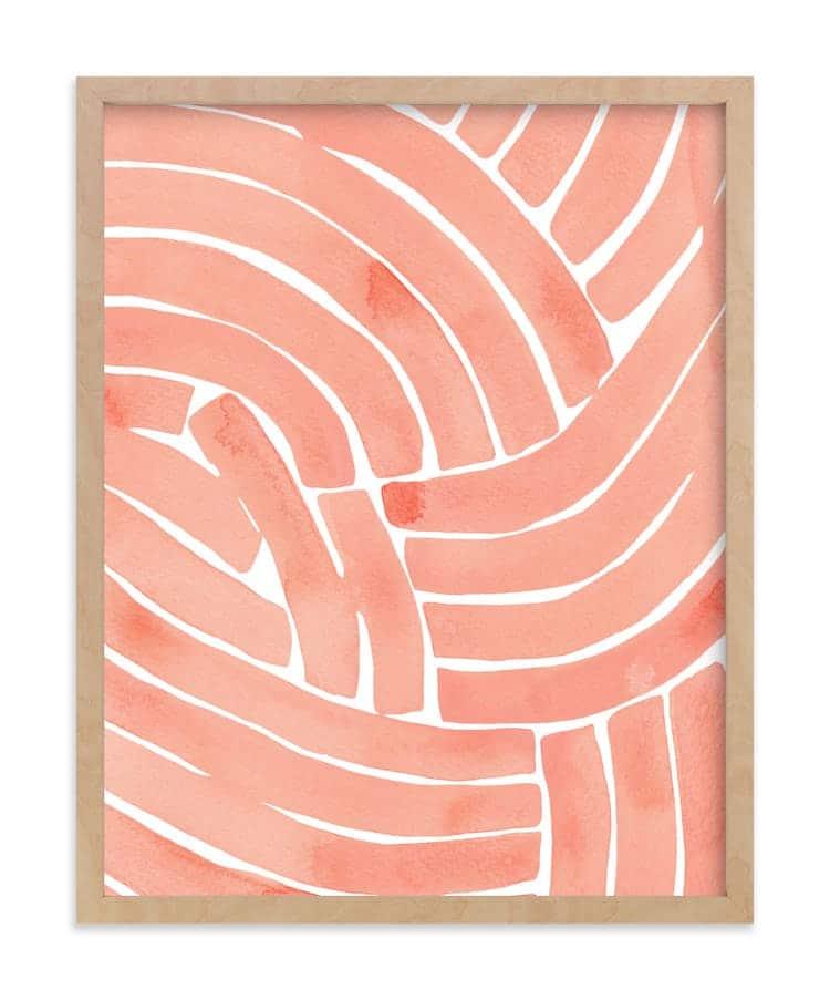 Impression d'art abstrait de lignes courbes