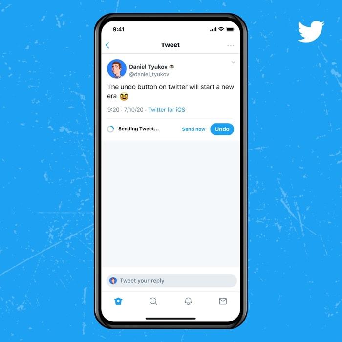 Twitter bleu