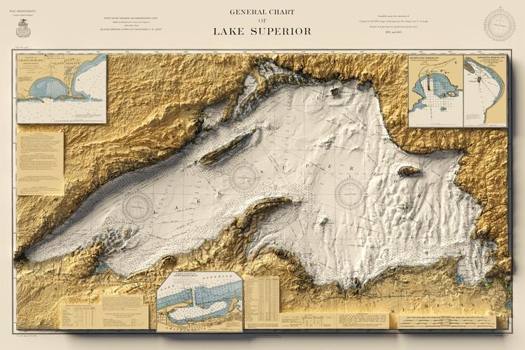 Carte du lac Supérieur