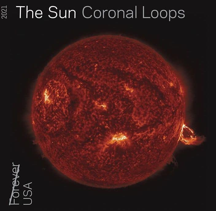 Le timbre Sun Coronal Loops
