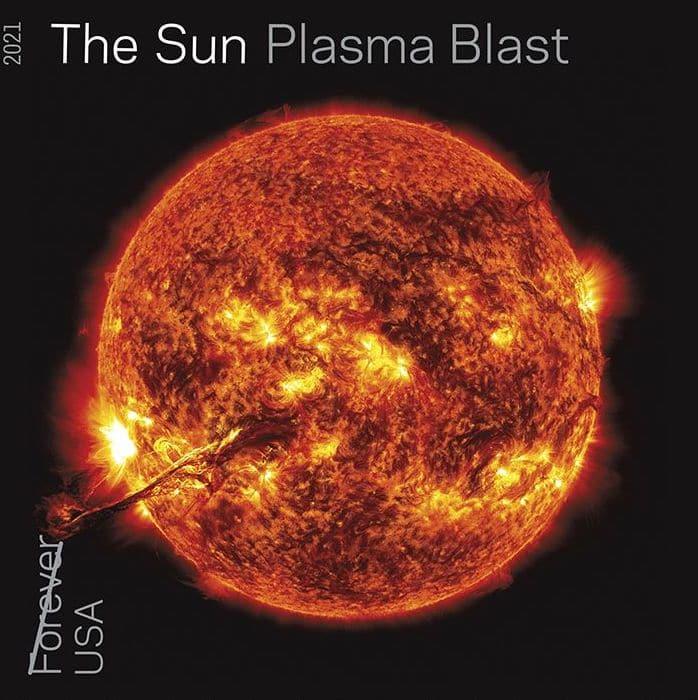 Le timbre d'explosion de plasma du soleil