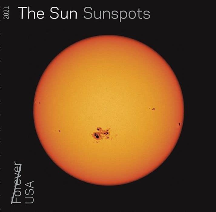 Tampon des taches solaires du soleil