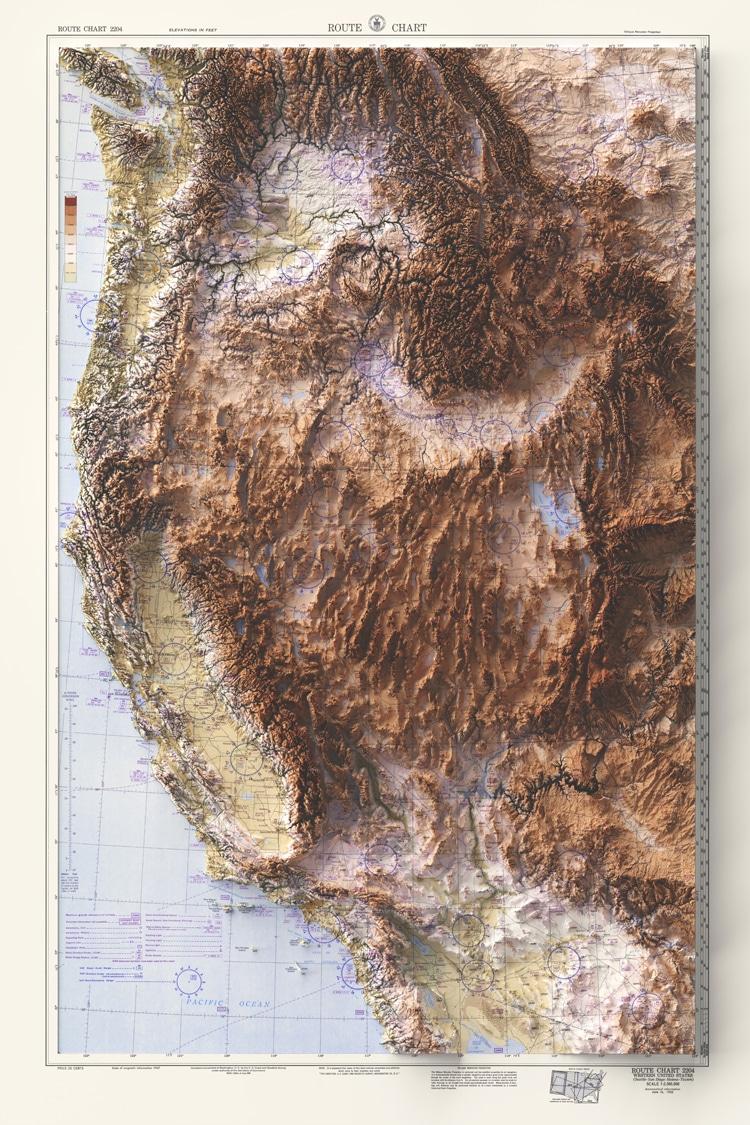 Carte de l'ouest des États-Unis