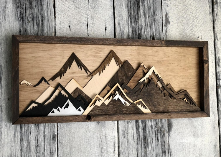 Boutons et perle Etsy Wood Wall Art