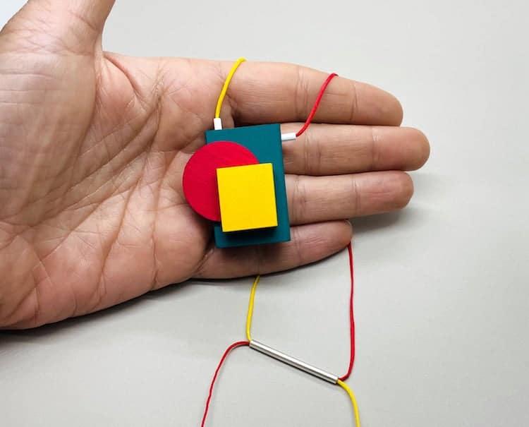 Collier Bauhaus coloré