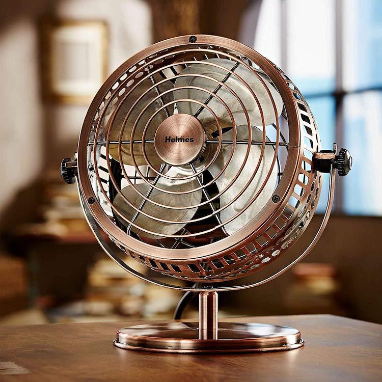 Ventilateur de bureau de style vintage