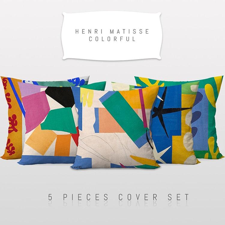 Housses d'oreiller d'inspiration Henri Matisse