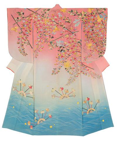 Technique de teinture de kimono japonais