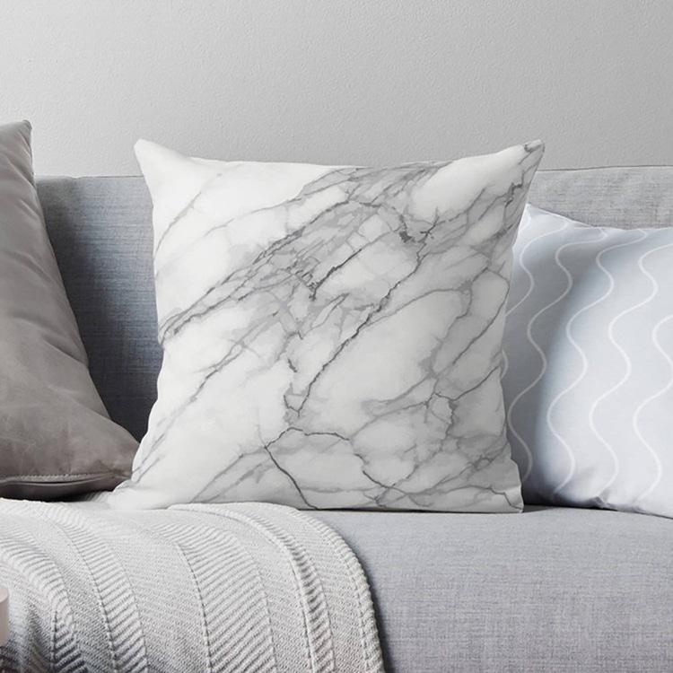 Housse de coussin en marbre moderne
