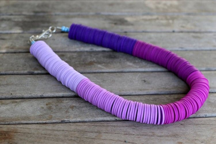 Collier Chunky Violet