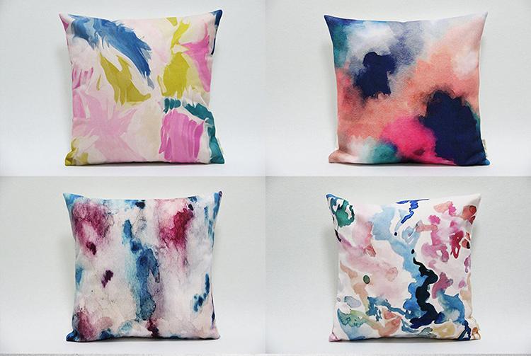 Taies d'oreiller aquarelle abstraite