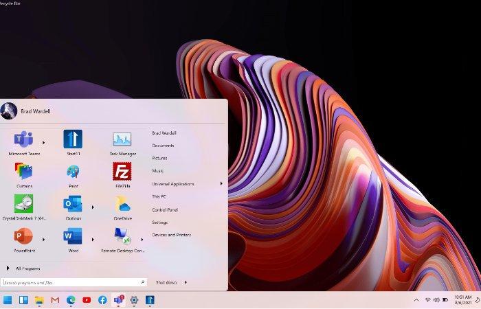 Corrigez la position du menu Démarrer de Windows 11