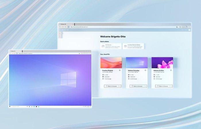 Diffusion en nuage de Windows 365